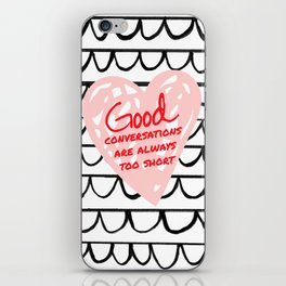 GOOD CONVERSATION // scalloped marker illustration iPhone Skin