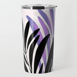 Lavender Olive Branches / Contemporary House Plant Drawing Travel Mug
