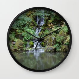 Portland Japanese Garden Waterfall Wall Clock