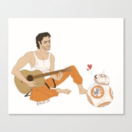 Poe and BB-8 Canvas Print