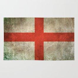 Old and Worn Distressed Vintage Flag of England Rug