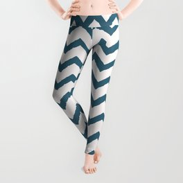 Chevron Teal Leggings