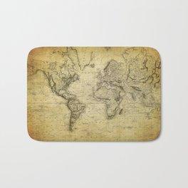 World Map 1814 Bath Mat