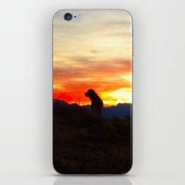 Black Dog Red iPhone Skin