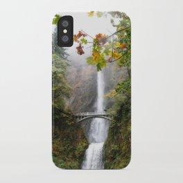 Autumn at Multnomah Falls iPhone Case