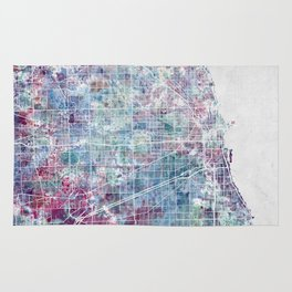 Chicago map Rug