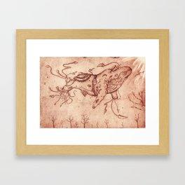 As Calm Framed Art Print