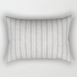 Mud cloth - Grey Arrowheads Rectangular Pillow