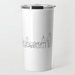 Chicago Skyline Drawing Travel Mug