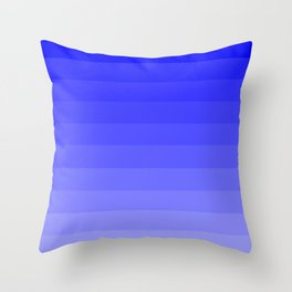 Cornflower Blue Ombre Throw Pillow