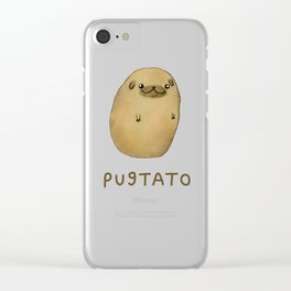 Pugtato Clear iPhone Case