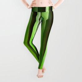 Tropical Green Riverweed Leggings