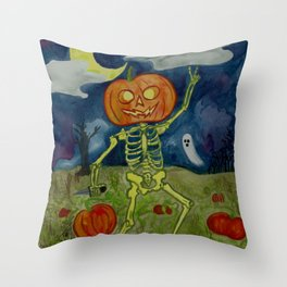 Pumpkin Patch Party Throw Pillow