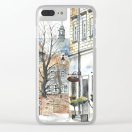 The Warsaw Barbican Poland Clear iPhone Case