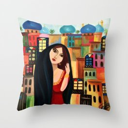 Baghdad girl Throw Pillow