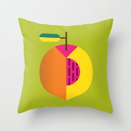 Fruit: Peach Throw Pillow