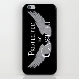 Protected by Castiel White Wings iPhone Skin