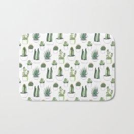 watercolour cacti and succulent Bath Mat