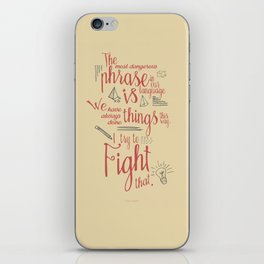 Grace Hopper quote, I always try to Fight That, Color version, inspiration, motivation, sentence iPhone Skin
