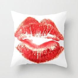Gentle Kiss Goodnight Throw Pillow
