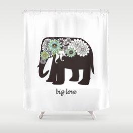Paisley Elephant - Big Love Shower Curtain