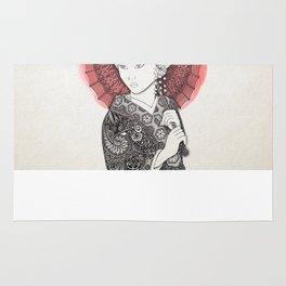 Japanese flag and Geisha Rug