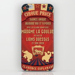 CIRQUE PRICE ROUGE iPhone Skin
