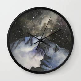 Starry mountain Sky Wall Clock