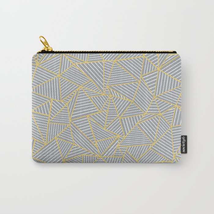 Ab Outline Gold and Grey Carry-All Pouch