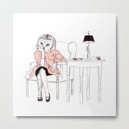Bestial lonely lady Metal Print
