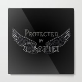Protected by Castiel Black Wings Metal Print