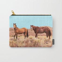 Horses #society6 #decor #buyart Carry-All Pouch