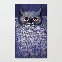 La Sagesse du Hibou (The Blue Owl) Canvas Print