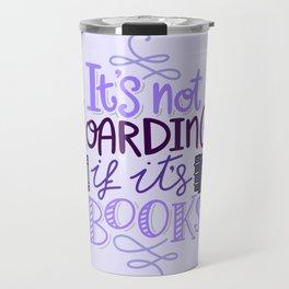 Book Hoarder - Purple Travel Mug