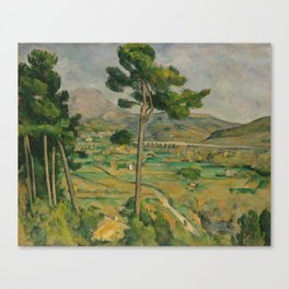"Paul Cezanne ""Mountain Sainte-Victoire and the Viaduct of the Arc River Valley"" Canvas Print"