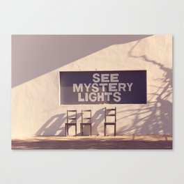 See Mystery Lights - Marfa, Texas Canvas Print