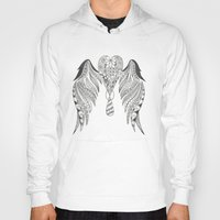 angel wings Hoodies featuring Totally Tangled Angel Wings by Totally Tangled Creations