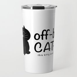 off-black CAT-illac  Travel Mug