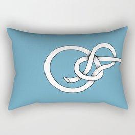blue knot Rectangular Pillow