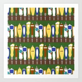 The Tim: Beer Taps Art Print