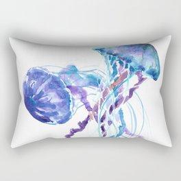 Jellyfish Blue Seaworld artwork Aquatic Design Rectangular Pillow