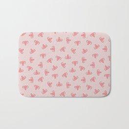 Crazy Happy Uterus in Pink, small repeat Bath Mat