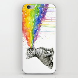 Kitten Puking Rainbow Cat Rainbow Vomit iPhone Skin