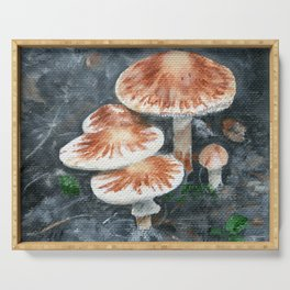 Family of mushrooms by Teresa Thompson Serving Tray