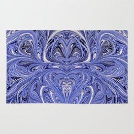 Mirror Blue Oil Gestalt Abstract II Rug