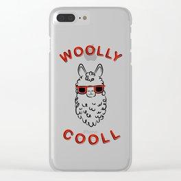 Woolly Cooll Cute Llama Pun Clear iPhone Case
