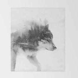 Wolf Stalking Throw Blanket