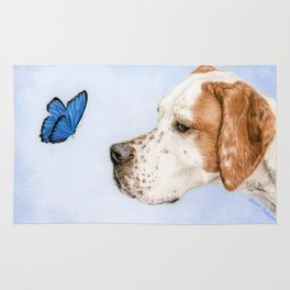 The Dog And The Butterfly Rug