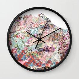 Edinburgh map Wall Clock
