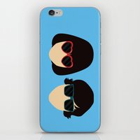 submarine iPhone & iPod Skins featuring Submarine by Loverly Prints
